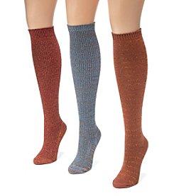 MUK LUKS Women's 3 Pair Pack Lurex® Knee High Socks