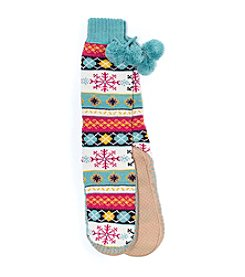 MUK LUKS Women's Slipper Socks with Poms