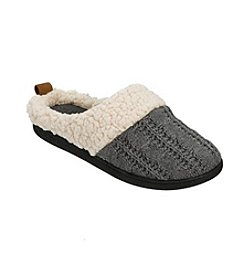 Dearfoams Cable Knit Clog With Cuff Slipper