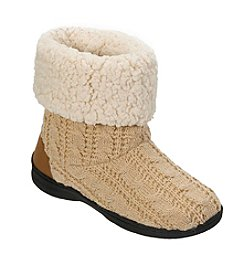 Dearfoams Cable Knit Boot Slipper
