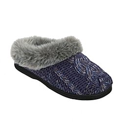 Dearfoams Chunky Novelty Cable Knit Slipper