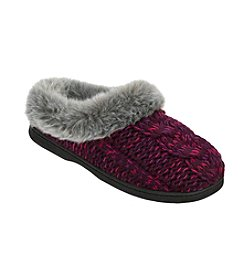Dearfoams Chunky Novelty Cable Knit Bootie Slipper