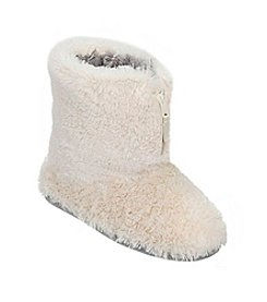 Dearfoams Muslin Pile Boot With Zipper Slipper
