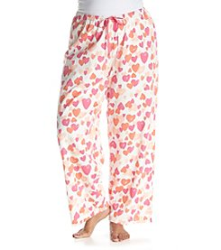 HUE® Plus Size Simple Hearts Pajama Pants