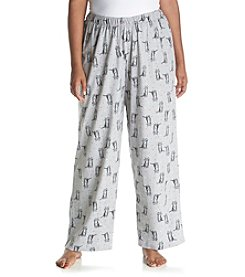 HUE® Plus Size Sittin' Pretty Kitty Pajama Pants
