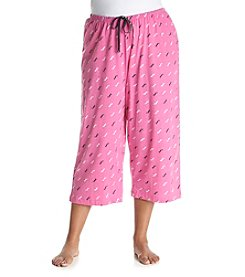 HUE Plus Size Doggini Capri Pajama Pants