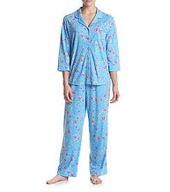 KN Karen Neuburger Printed Pajama Set