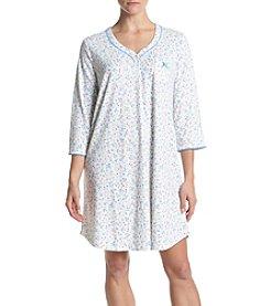 KN Karen Neuburger Printed Henley Sleepshirt
