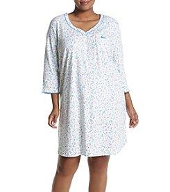 KN Karen Neuburger Plus Size Printed Henley Sleepshirt