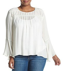 Jessica Simpson Plus Size Bell Sleeve Peasant Blouse
