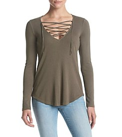 Splendid® Lace Up Top