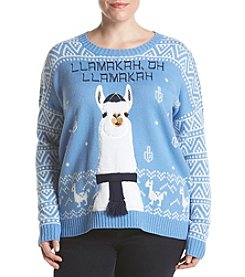 Love Always Plus Size Llamakah Pullover Sweater
