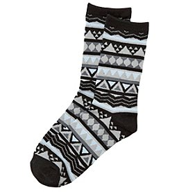 Relativity® Nordic Stripe Crew Socks
