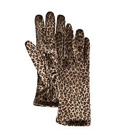 Cejon® Cheetah Print Velvet Gloves