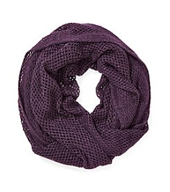 Steve Madden Solid Mini Fishnet Scarf