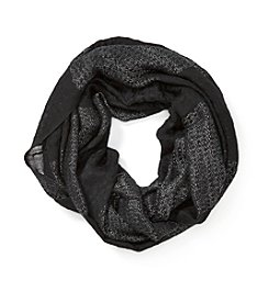 Basha Wide Lurex Stripe Loop Scarf