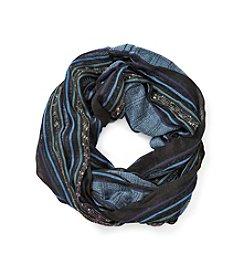 Basha Lurex Stripe Nubby Texture Infinity Scarf