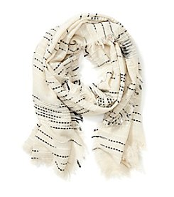 Cejon® Solid And Slub Yarn Scarf