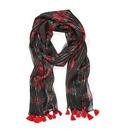 Cejon® Poinsettia Bouquet Scarf