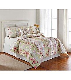 LivingQuarters Hibiscus Rose Quilt