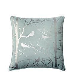 Brielle Foil Birds Decorative Pillow
