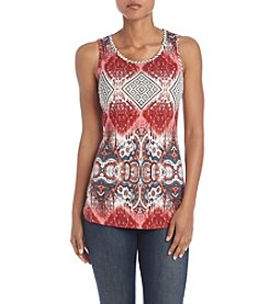 Ruff Hewn GREY Printed Shirttail Tank