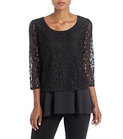 Relativity® Lace Layer Blouse