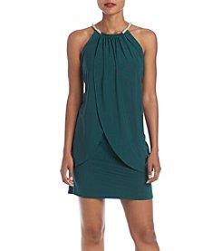 Jessica Simpson Jeweled Halter Dress