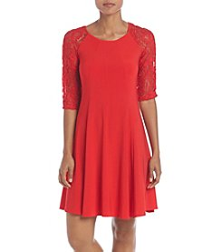 Gabby Skye Crochet Swing Dress