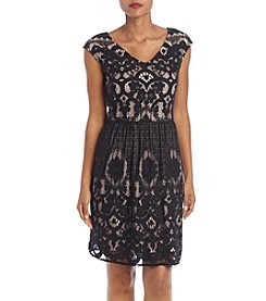 Madison Leigh Fit And Flare Lace Dress