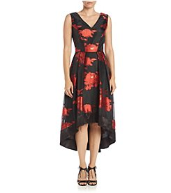 S.L. Fashions High-Low Floral Dress