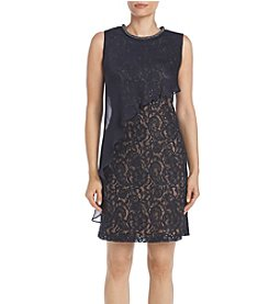 S.L. Fashions Sequin Lace Dress