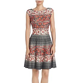 Gabby Skye® Floral Fit And Flare Dress