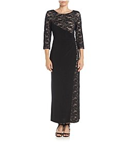 R&M Richards® Side Panel Lace Dress