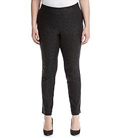Relativity® Plus Size Skinny Foil Pull On Pants