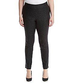 Relativity® Plus Size Skinny Foil Pull On Pants