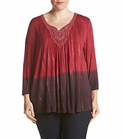 Oneworld® Plus Size Marbled Knit Top