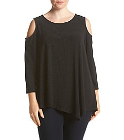 Rafaella® Plus Size Solid Cold Shoulder Top