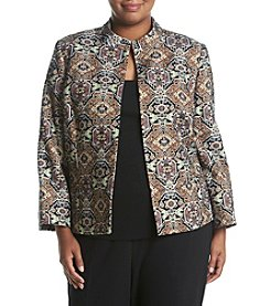 Kasper® Plus Size Metallic Jacquard Jacket