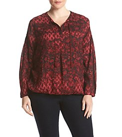 Lucky Brand® Plus Size Floral Peasant Blouse