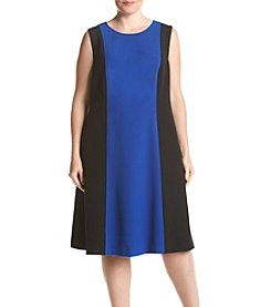 Kasper® Plus Size Colorblock Stretch Dress