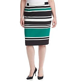 Nine West Plus Size Stripe Pencil Skirt