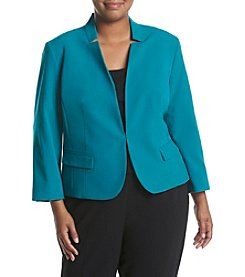 Nine West® Plus Size Stretch Crepe One Button Jacket