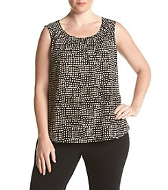 Nine West® Plus Size Crepe Dot Print Cami