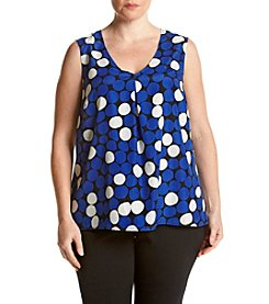 Kasper® Plus Size Dot Print Cami