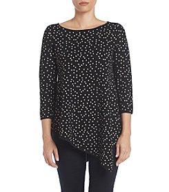 Chelsea & Theodore® Dot Asymmetrical Hem Tunic