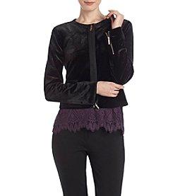 Tommy Hilfiger® Velvet Zip Front Jacket