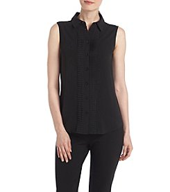 Tommy Hilfiger® Scallop Button Blouse