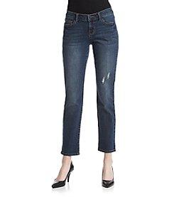 Earl Jean® Clean Roll Cuffed Hem Boyfriend Jeans