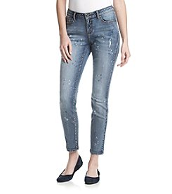 Earl Jean® Clean Paint Splatter Skinny Jeans